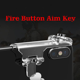 almohadilla de juegos para móviles Rebajas 1 par de juegos para teléfonos móviles Gamepad Controller para juegos de joystick Aim Key Shooter Disparadores de botones para incendios Game Pad Handle Stand para PUBG