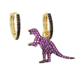 Jóia dos dinossauros on-line-925 esterlina siliver bonito animal dinossauro terra charme oscila brinco banhado a ouro europeu elegância lindo mulheres senhoras presente jóias