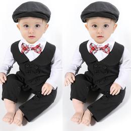 ca0fca3d9a5d Baby Boy autumn Formal Suit Party Wedding Tuxedo Gentleman Romper Jumpsuit  0-24M pudcoco Baby Boys Short Sleeve Bowtie 2PCS