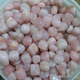 Wholesale polished stones wholesale - 200g Natural Rose Quartz tumbled stones Pink blush Crystal powder small Pebble polished raw gemstone Decoration ornamental rock for healing