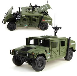 Wholesale Toy Cars Open - Alloy Diecast For Hummer Tactical Vehicle 1:18 Military Armored Car Diecast Model with 5 Door Opened Toy For Kids Birthday