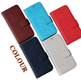 new accessories for mobile phones Promo Codes - Universal Phone Wallet Cases Vintage Grain Mobile Protect Covers Card Holder Fashion Cellphone Accessories Mix Color New
