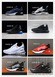 Wholesale fabric for printing - 270 Mens Shoes Sneakers For Women Running Trainers Wmns Sports Sneaker Men 270 Black White shoes