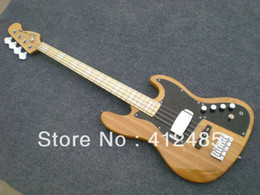 Wholesale body jazz bass - Free Shipping Wholesale Price new arrival bass 4 strings JAZZ electric bass in Natural color bass