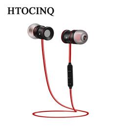 Мобильные телефоны онлайн-HTOCINQ беспроводные наушники neckband Bluetooth версии V4.1 наушник легкий бег магнитные наушники с микрофоном для сотовых телефонов