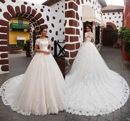 Canada Vintage arabe princesse Ivoire une ligne robes de mariée en dentelle Turquie Femmes Pays Western robes de mariée 2018 Appliques hors épaule pas cher cheap ivory western dresses Offre