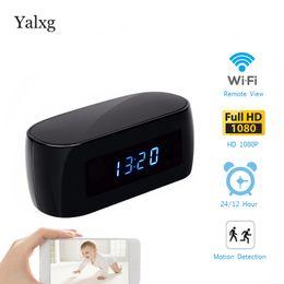 2019 relógio da câmera de vídeo HD IP 1080 P Wi-fi Câmera de Vigilância Com Display de Tempo Relógio Eletrônico P2P Sensor de Movimento Mini Câmera IP Gravador De Vídeo desconto relógio da câmera de vídeo