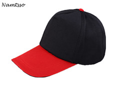 Wholesale advertising caps - Stitching color baseball fashion hat outdoor working cap advertising polo shirt cap