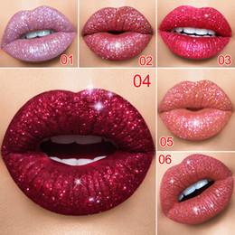 Wholesale sexy red lipstick - Cmaadu 6 Color Shiny Waterproof Shimmer Liquid Lip Tint Lipstick Long Lasting Women Sexy Nude Pink Red Glitter Lip Gloss Makeup