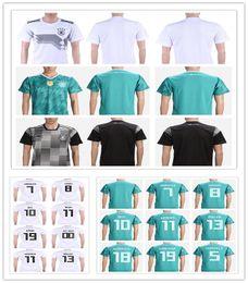 Wholesale Football German - Hot sale 2018 Germany soccer jersey world cup Home Away OZIL KROOS DRAHLER WERNER German shirt football jerseys