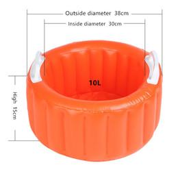 Bassin d'eau pliant créatif 10L, PVC gonflable portable de pêche en plein air en plein air voiture de lavage Birdbath Convient pour une température de moins 10 à 100 ? partir de fabricateur