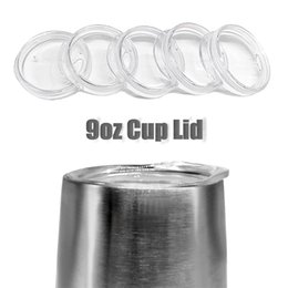 Wholesale Clear Mugs Wholesale - 9OZ Egg Cups Lids Clear Food Grade PP Wine Glasses Lid Replaced Vacuum Lid Safe Mugs Covers