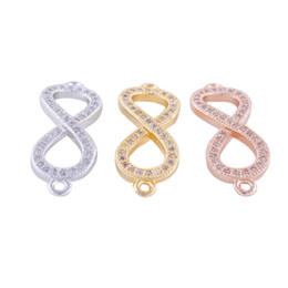 Bijoux en gros faits à la main de bijoux Composants Conclusions boucles d'oreilles Bracelet Strass Infinity Symbole Charmes Collier Pendentif Connecteur Accessoires ? partir de fabricateur