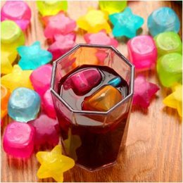 Wholesale Plastic Ice Cubes - 6pcs pack Ice Cubes Plastic Fruit Shaped Reusable Plastic Multicolour Cool Cold Drinkware Bar Barbecue Party Bar Tools CCA9461 100set