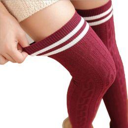 09fa6d8d6b1 2017 Japan Cute Style Preppy Stocking Women Medias Long Over Knee High Socks  Warm For Girls Cotton Overknee Striped Stockings socks black japan deals