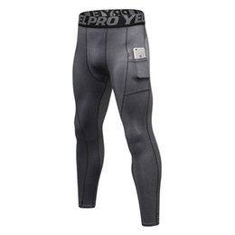 b99ecda214 Stretch Compression Pants Men Tight Long Sport Trousers Fitness Gym Athletic  Patchwork Color Man Sweat Running Leggings Sexy