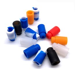 Wholesale Ego Rubber Tips - Silicone 510 Drip Tips Cover Rubber Mouthpiece for 510 EGO Thread Atomizer Test Mouthpiece with Individually Package DHL Free