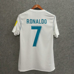 Wholesale Perfect Clubs - Perfect club world champions 2017 madrid home player version AAA football shirts adizero slim fit soccer jerseys custom name number ronaldo