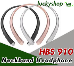 Wholesale Best Universal Bluetooth Headset - 50X HBS 910 Headset Earphone Sports Wireless Bluetooth 4.0 Headphone Best Quality For iphone 7 plus s8 edge hbs910 900 913 800 DHL