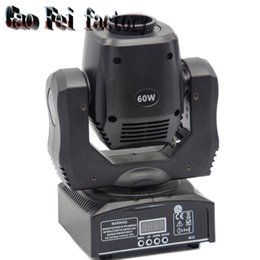 Wholesale Moving Head Led Gobo - 60W Led Mini moving head Light DJ Disco Party Music gobo Stage Lighting Effect