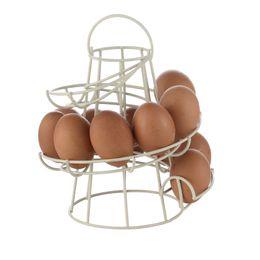 Железные яйца онлайн-1 шт. Белый / черный железный спираль яйцо держатель яйцо контейнер для хранения высокое качество