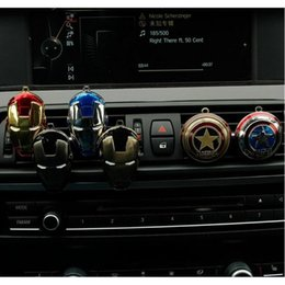 Wholesale Marvel Accessories Wholesale - 23 Designs Car Air Vent Perfume Clip on Air Freshener for Marvel Iron Man Auto Decor Cartoon Accessories AAA402