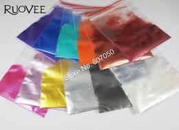 Polvo de perla natural online-120 gramos = 12Colors Mineral Natural Cosmetic Grade Mica Pearl Pigment Powder Powder para DIY Nail Art Polish y maquillaje sombra de ojos