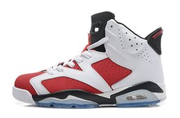 Wholesale Table Cat Box - Black Infrared 6 men Basketball shoes unc Hare Carmine White Infrared Black Cat university sports blue Oreo Angry bull sports sneakers