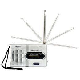 Wholesale antenna silver - Mini Portable Pocket AM FM  Antenna Baery Powered Radio Receiver Z1030 DROPSHIP