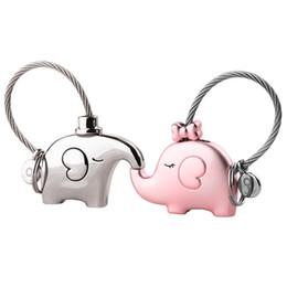Éléphant pour les amoureux cadeau sac pendentif un porte-clés de couples Bibelots porte-clés voiture porte-clés chaveiro articles innovants cadeau ? partir de fabricateur