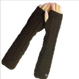 Половина Палец Длинные Перчатки Супер Длинные Перчатки Без Пальцев Женская Корейская Версия Осень И Зима Теплая Шерсть Перчатки Над Локтем от