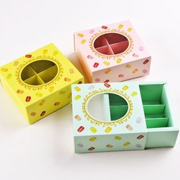 bolos de casamento branco bonito Desconto 12 * 11 * 5.2 cm DHL Grátis Macaron caixa de papel do bolo com Caixa de Embalagem de Biscoitos Janela 3 colors100pcs / lot DHL grátis