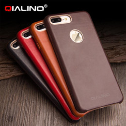 Wholesale Ultra Slim Case For Iphone - Ultra slim High Quality case for iphone 7 plus design calf skin phone cover for iphone 7 leather back case cover