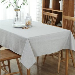 Wholesale Waterproof Cotton Tablecloth - Cotton Linen Waterproof Tablecloth Rectangular Stain-resistant Table Cover for Dinning Kitchen Restaurant Banquet Party Table Decorative