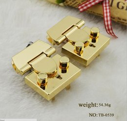 Wholesale Quality Wholesale Hardware - (5 PCS lot) high grade quality electroplating bright surface lady brand box handbag hardware button lock accessories