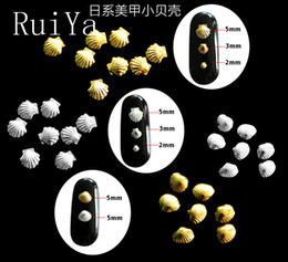 1000pcs 3D Gold Silver 3D Metal Sea Shell  Nail Art Rhineston Nail jewelry Japanese Studs Art Accessories Decoration supplier japanese metal art от Поставщики японское искусство металла