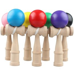 Wholesale Sword For Kids - Creative Fitness Toys Kendama For Children Puzzle Toy Wooden Sword Ball Kid Gift Multi Color 7 5yx C R