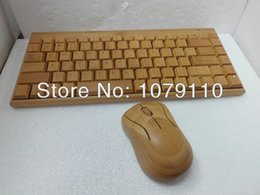 Wholesale Wooden Keyboards - 100% Natural Bamboo Wooden handmade Wood PC Multi-media Function wireless Keyboard and Mouse Combo, SKU 01501AC2