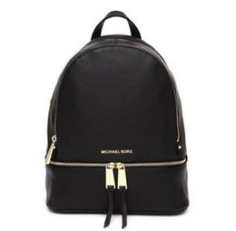 Wholesale Black Genuine Leather Backpack - backpacks designer 2018 fashion women lady black red handbag rucksack bag charms shoulder bag free shipping