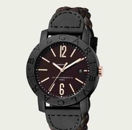 Relógios de mergulho on-line-Venda quente marca diameter45mm couro cinta código de mergulho mesa de luxo relógio clássico masculino relógios relógio relogio marca relógios de pulso