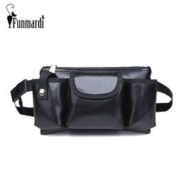 multi pocket fanny pack NZ - FUNMARDI New Style Women Leather Waist Bag For Men Fanny Pack Multi Pockets Design Belt Bag Phone Purse Small Bum WLHB1762