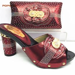 6727c0e0c Conjunto de sapato e bolsa de vinho de cor italiana sapato italiano com  correspondência saco melhor vendendo senhoras combinando sapato e bolsa  Itália ...