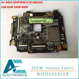 circuito de placa base Rebajas Placa base para ASUS ZENFONE 6 Z6 Motherboard 16GB Rom 2GB RAM Circuitos lógicos de placa A601CG Paquetes de accesorios