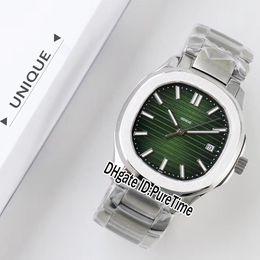 Mejor reloj de la banda deportiva online-La mejor edición UF Nautilus 5711 caja de acero inoxidable esfera verde 324SC ETA automático reloj para hombre Relojes deportivos banda SS para Puretime UFPP01