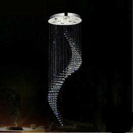 Moderne LED K9 Kristall Kronleuchter Stair Long Spirale Kristall  Kronleuchter Leuchte Für Treppenhaus Regen Drop Hohe Decke Kronleuchter  Wendeltreppen ...