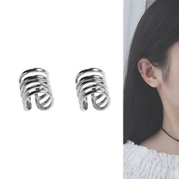 helix piercing jewelry Promo Codes - 925 sterling silver ear cuff non piercing fake earring helix jewelry 1 pair