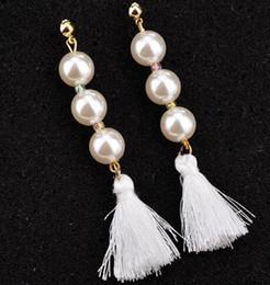 2019 accesorios para el oído de corea nuevo caliente StyleEuropean y pernos de perla de estilo americano accesorios pendientes femeninos estilo largo borla pendientes pendientes de Corea moda classi accesorios para el oído de corea baratos