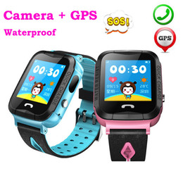 baby tracker child Coupons - Child Baby GPS Smart Watch V6G with Camera 1.44 Inch Touch Screen SOS Call Device Tracker Anti-Lost Monitor PK Q50 Q90