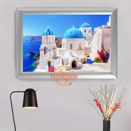Wholesale Popular Wall Paintings - Greece Custom Frame Painting Canvas Prints Modern popular Wall Art Poster For Living Room Decoration H322bs38iu