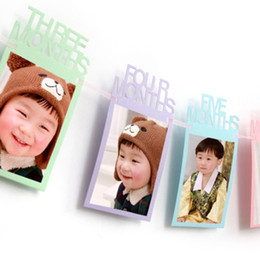 1Set DIY Monthly Garland Kids 1st day Birthday party Banner String Baby  Photo Frame Album decor New year Home Party Decoration 7e2d5ee5a5eb